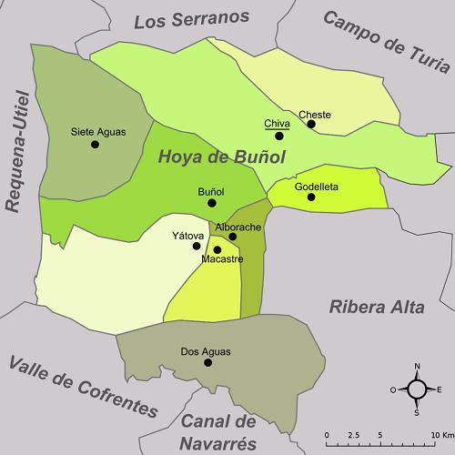 Mapa Hoya de buñol